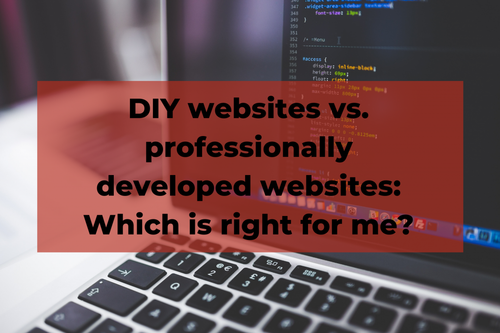 DIY websites vs. professionally developed websites