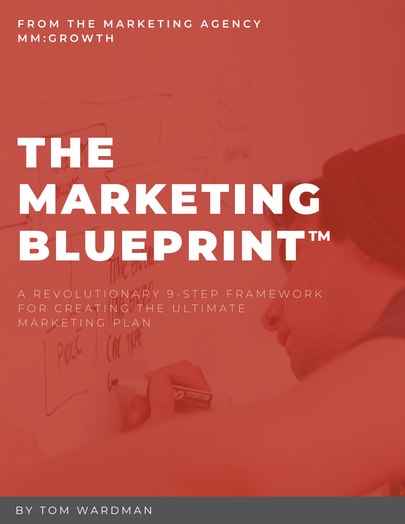 The Marketing BLUEPRINT | Front cover of the marketing plan blueprint