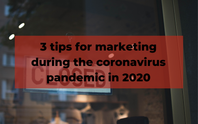 Marketing during the coronavirus pandemic
